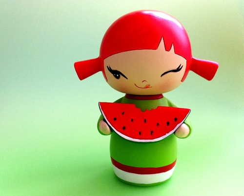 momiji doll, kawaii, green