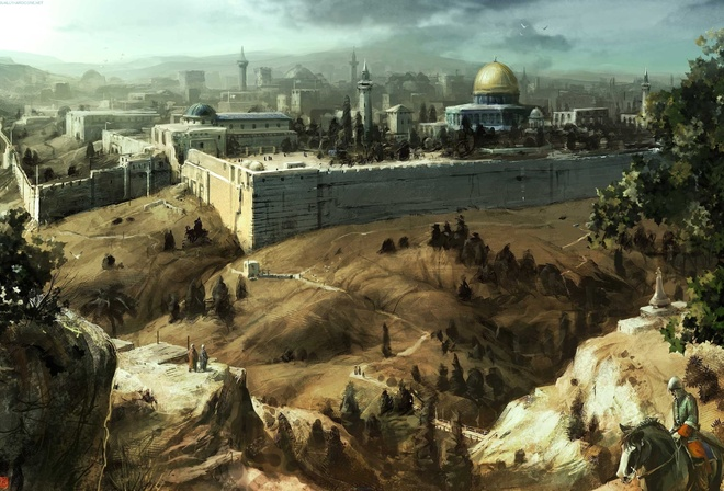 mosque, jerusalem, assassins creed