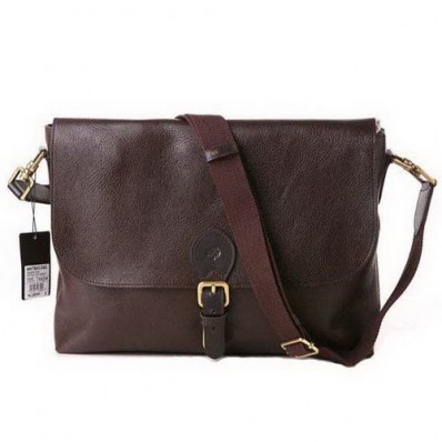 mulberry men albert satchel natural leather chocolate messenger bag, mulberry men bags, mulberry messenger bags