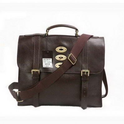 mulberry men ted natural leather chocolate messenger bag, mulberry men bags, mulberry messenger bags