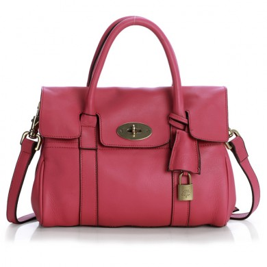 mulberry women hot pink bayswater bag