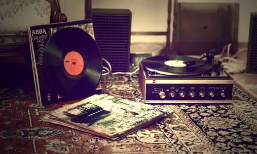 music, retro, player, carpet, lp