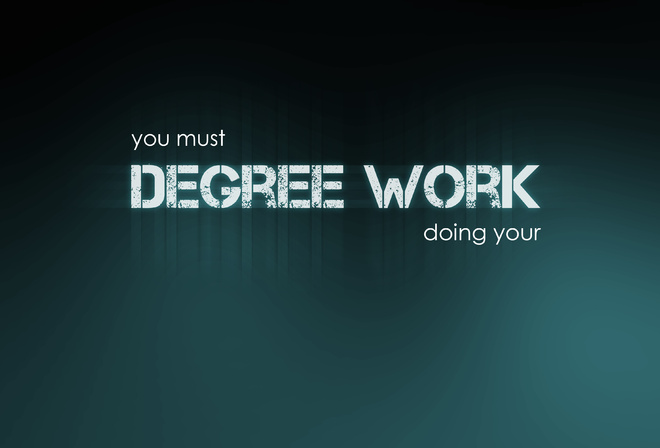 must, degree work, background