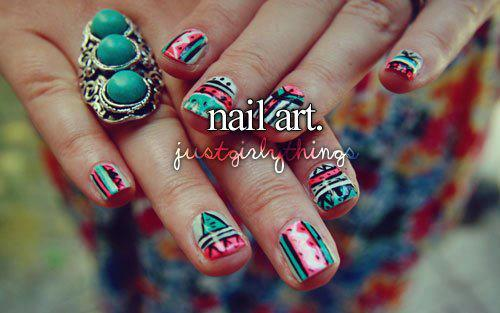 nail art, polish, ring
