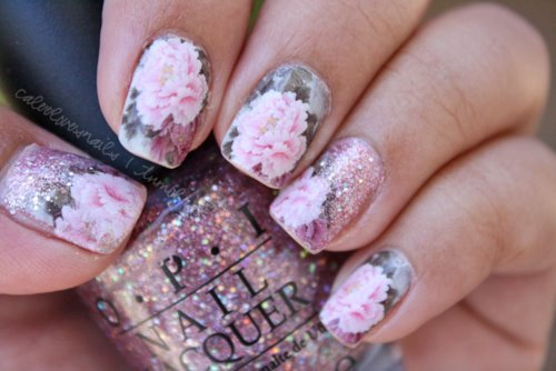 nail, nails art, fashion, glitter