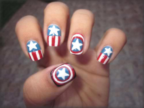 nails captain america nice fashion