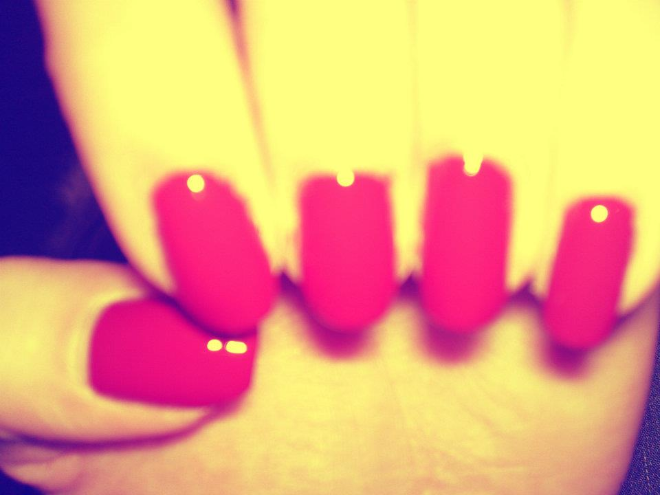 nails, red, beautiful
