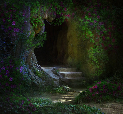 nature, cave, forest, dream, hidden