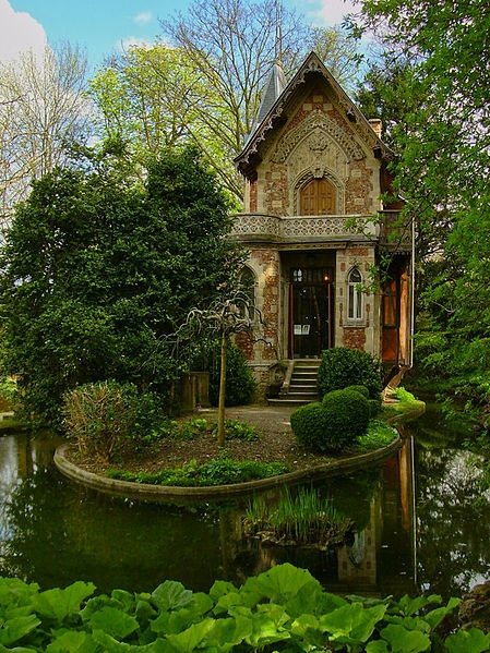 nature, green, mansion, house