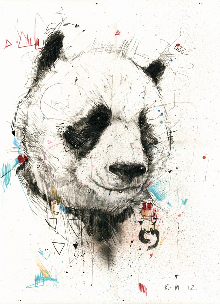 panda, art