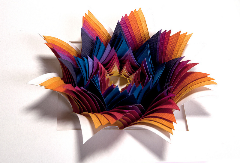 paper sculprture, papers, flower, colors, paper flower