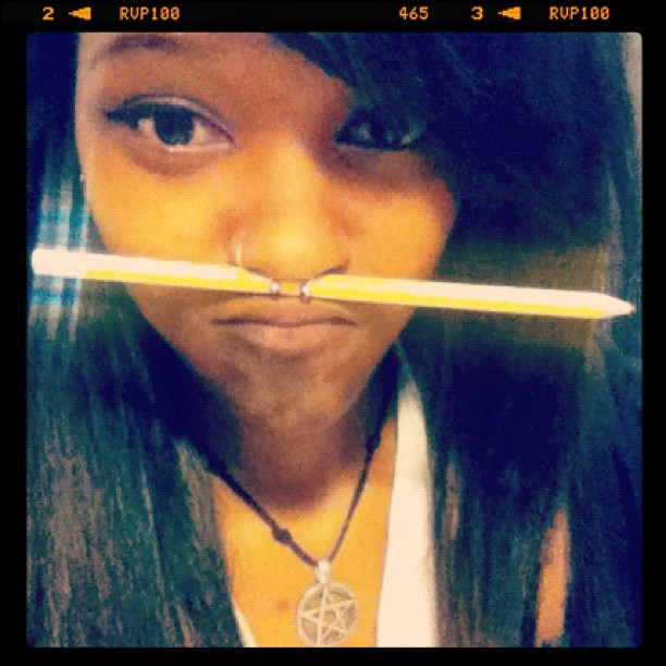 pencil, septum, pentagram