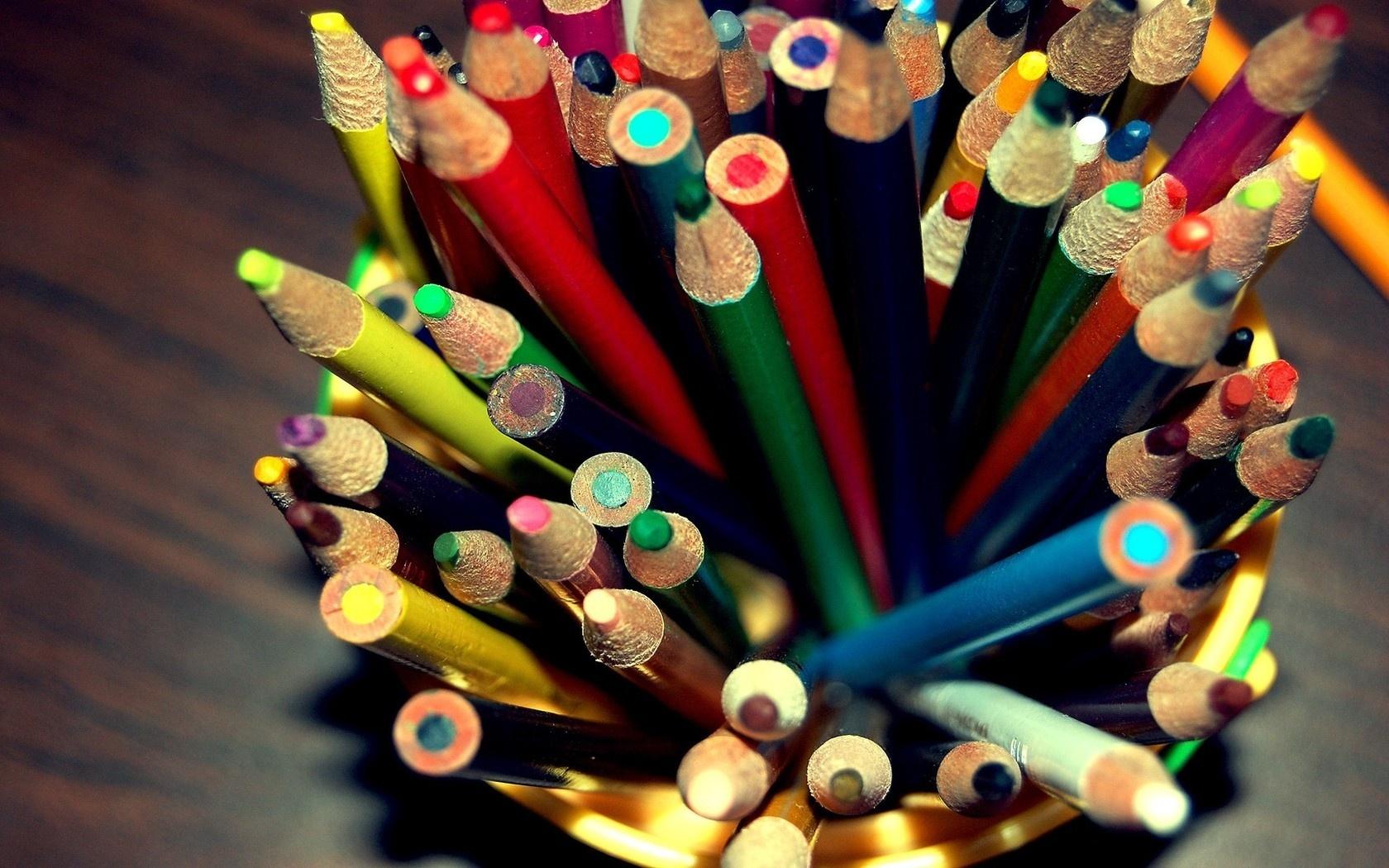 pencils, colors, rainbow, positive