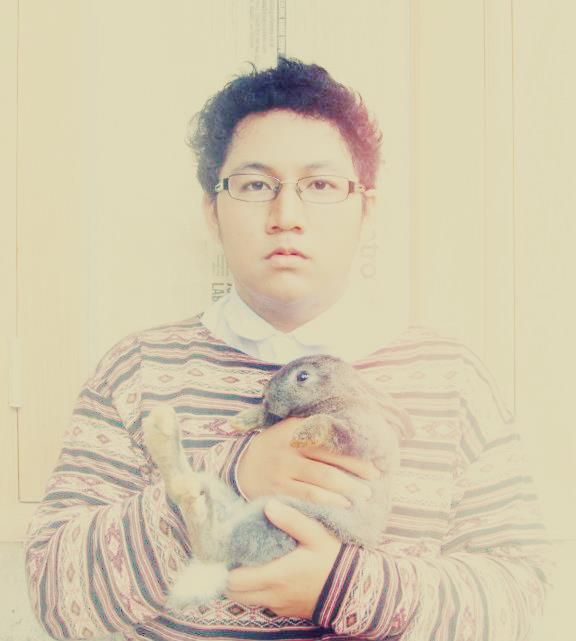 photography, boy, rabbit, aztec pattern