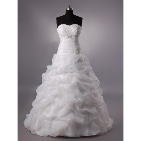 pick up landybridal sweetheart brush train wedding dress