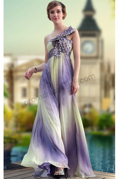 picture color one-shoulder tencel evening dinner dress s645