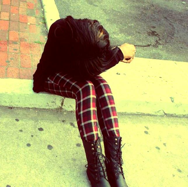 plaid, skinny jeans, boots, girl, alternative