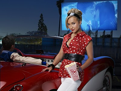 blonde, car, cinema, girl, pop corm