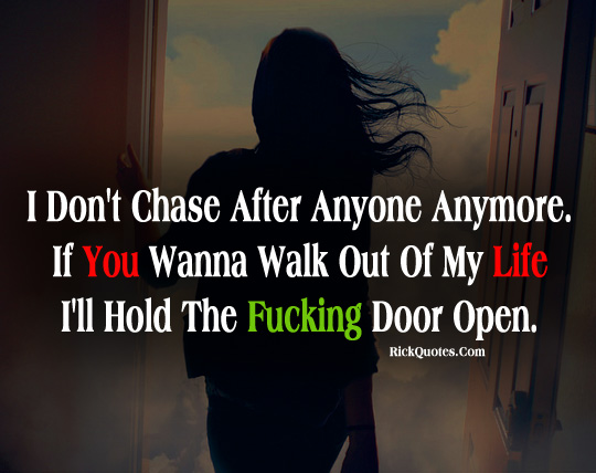 quote, life, door, girl, alone