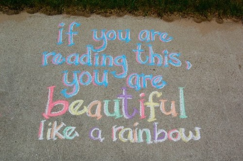 beautiful, color, quote, rainbow, street