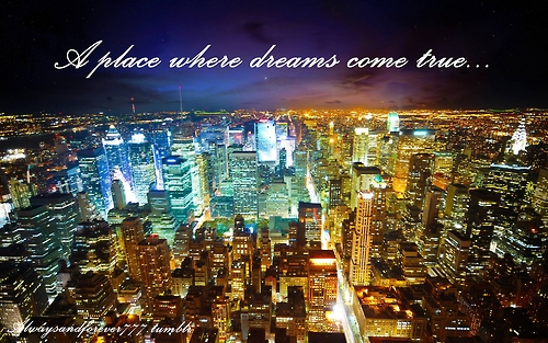 awesome, city, dreams, girl, lights, pretty, quote, swag