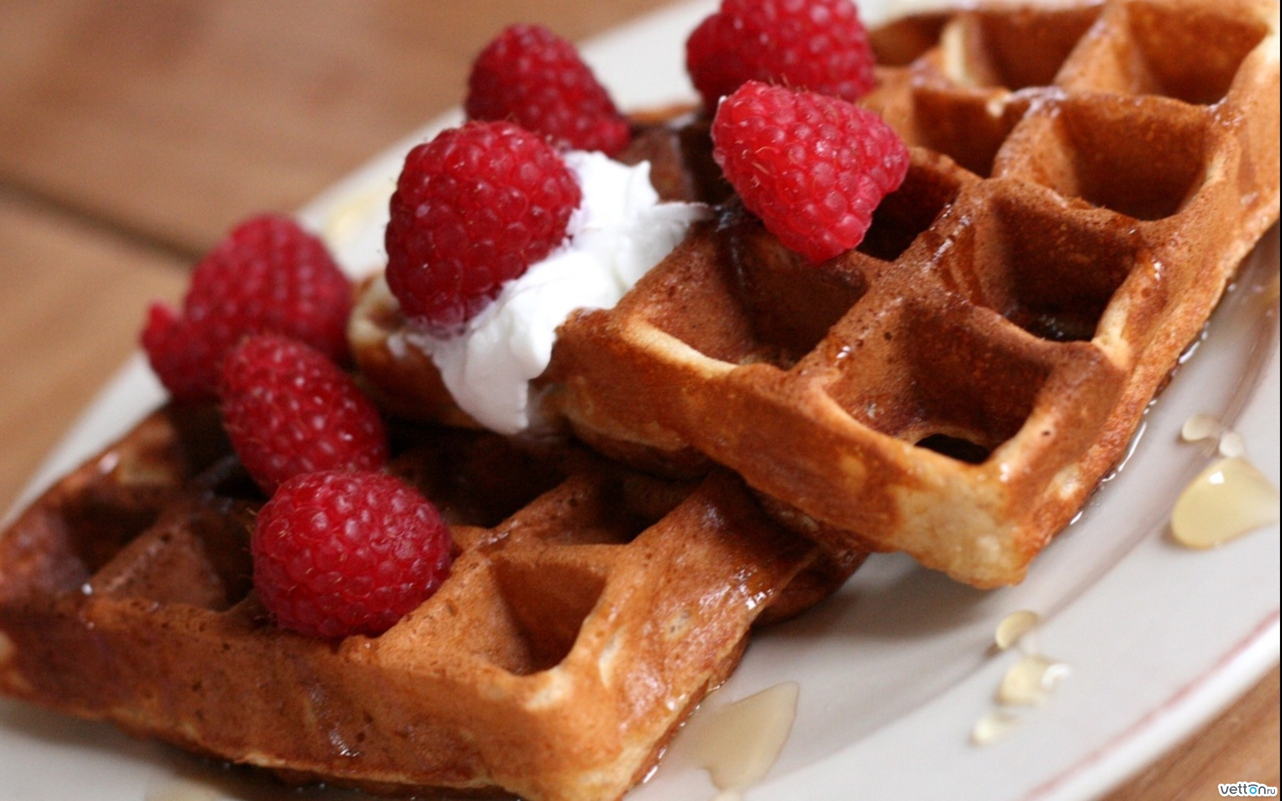 Waffles For Dessert Recipe — Dishmaps