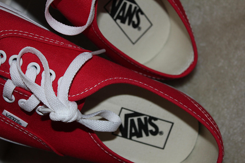 red, shoes, vans, want