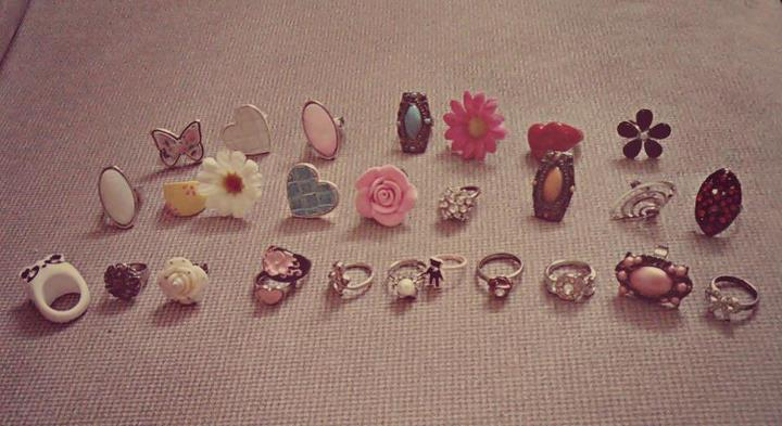 rings, heart, love, flower