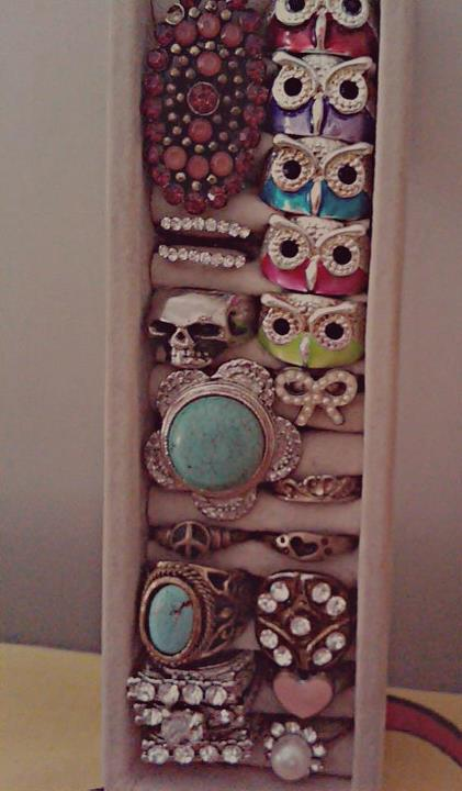 rings, ring, skull, owl
