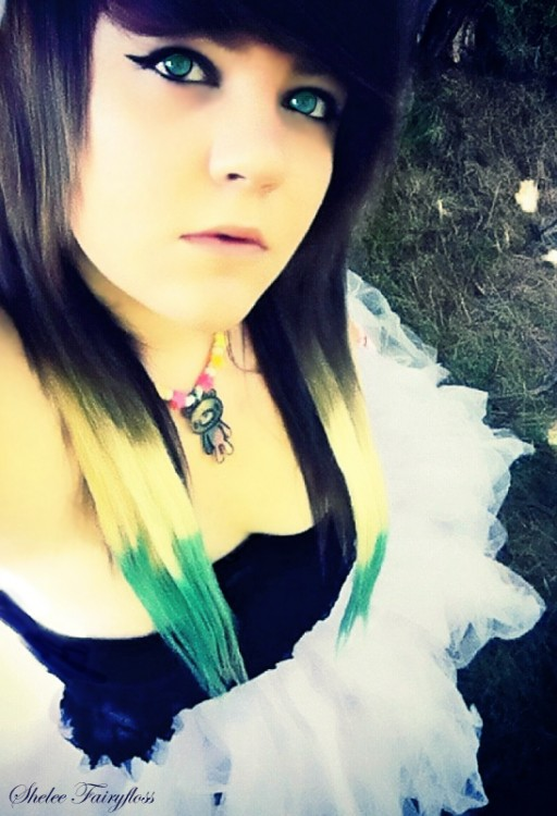 alternative, blonde, blue, dress, emo, fashion, girl, gloomy bear, green eyes, hair, kandi, makeup, model, photography, punk, scene, scene girl, scene hair, scene queen, shelee, shelee fairyfloss, tutu
