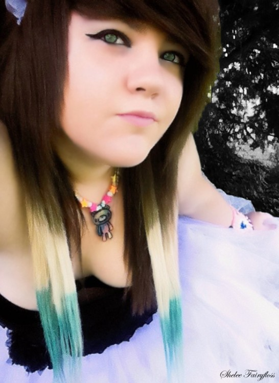 alternative, blonde, blonde hair, blue, blue hair, dress, emo, fashion, girl, gloomy bear, green eyes, hair, kandi, makeup, model, photography, punk, scene, scene girl, scene hair, scene queen, shelee, shelee fairyfloss, tutu