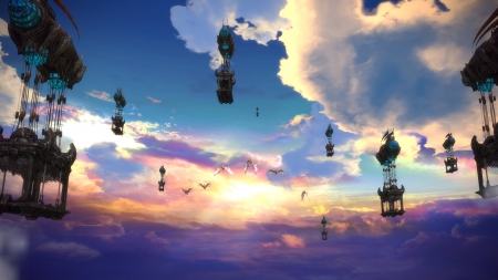 screenshot, sky, sun, tera