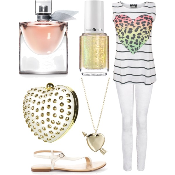 set, fashion, heart, leopard, white