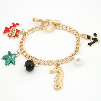 accessories, anchor, beautiful, bracelet, charm bracelet, chic, colorful, cute, fashion jewelry, jewelry, original, pearl, puzzle, sea star, seahorse, shine, shine accessories, trendy, unique