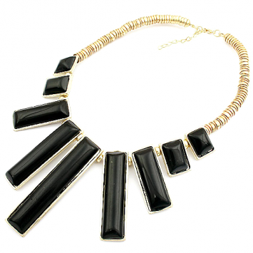 accessories, beautiful, black, black necklace, candy, candy bar, chic, fashion jewelry, jewelry, necklace, original, shine, shine accessories, trendy, unique