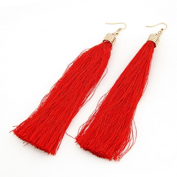 accessories, beautiful, earrings, fashion jewelry, jewelry, long tassel, original, red, red earrings, shine, shine accessories, tassel, tassel earrings, trendy, unique