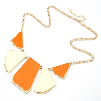 accessories, beautiful, chic, fashion jewelry, geometric, jewelry, necklace, orange, orange necklace, original, shine, shine accessories, trendy, unique, urban, urban chic