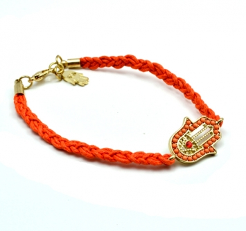 accessories, beautiful, bracelet, fashion jewelry, hamsa, hamsa bracelet, jewelry, orange bracelet, orange color, original, shine, shine accessories, trendy, unique