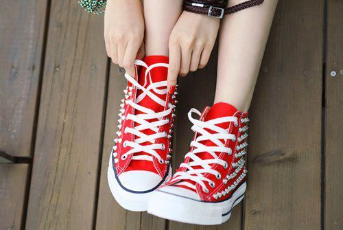 shoes, fashion, red, girl