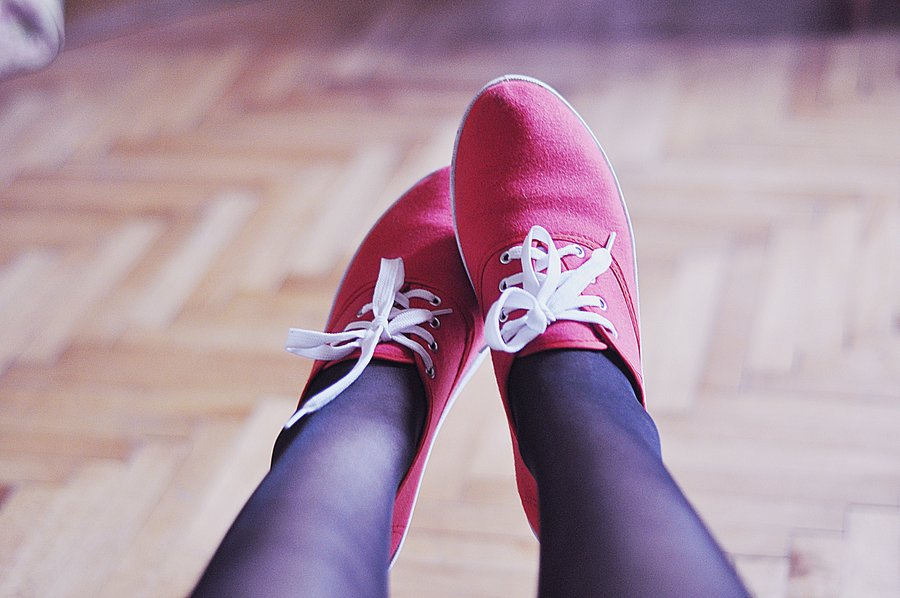 shoes, red, indoors, legs, girl