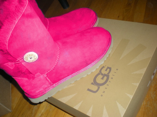 shoes, ugg, pink, love