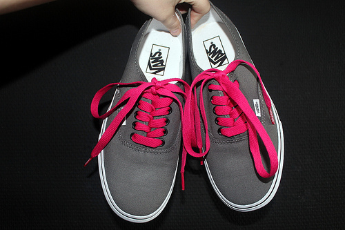 shoes, vans, pink, style, grey
