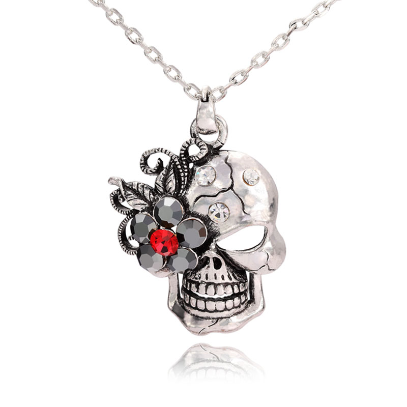hover sterling skull kaystore en to mv cut kay necklace zoom silver ct tw round diamond zm