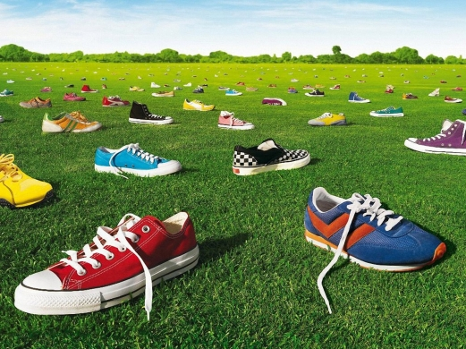 sneakers, shoes, grass