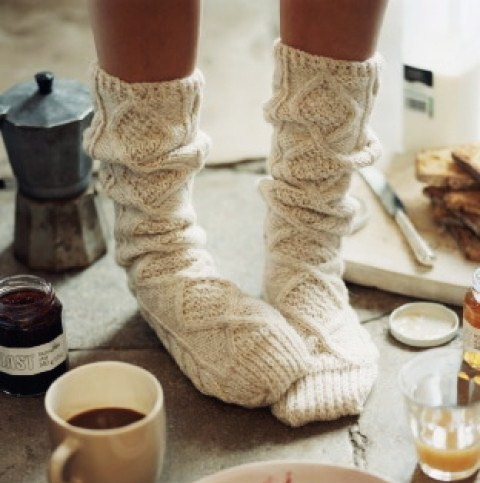 socks, warm, coffee, autumn