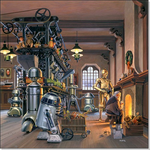 star wars, digital, holiday, robot, cute