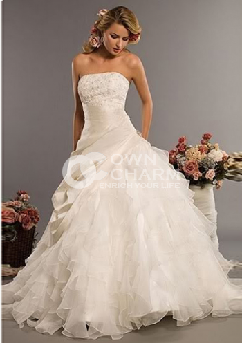 Strapless wedding dresses strapless wedding gowns cheap for Cheap beautiful wedding dresses for sale
