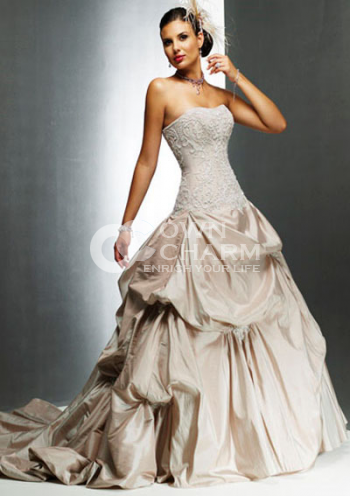 Strapless wedding dresses strapless wedding gowns cheap for Custom wedding dress online