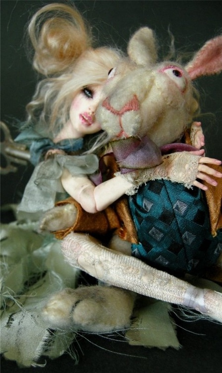 blonde, doll, favim, photography, rabbit, stuffed animals
