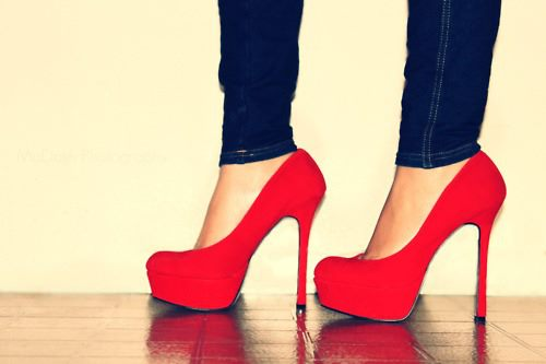 style, fashion, heels, red